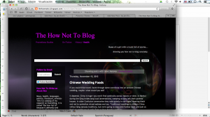 the how not to blog